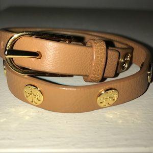 Tory Burch Brown Wrap Bracelet